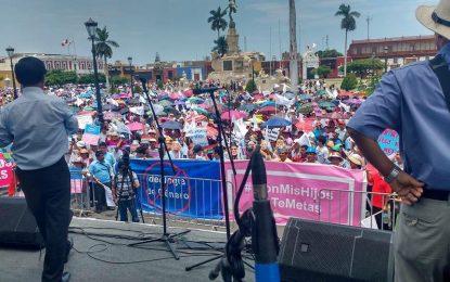 Nueva Currícula Nacional, generó gran marcha por parte de pobladores en lima y Trujillo.