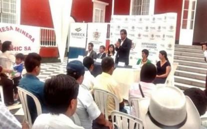 Se formalizaron 76 mineros artesanales en Alto Chicama
