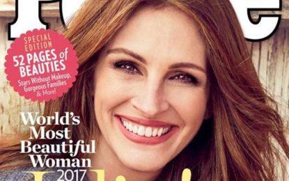 Julia Roberts fue elegida por quinta vez como la mujer más bella del mundo