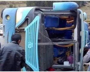 Despiste de ómnibus deja varios heridos