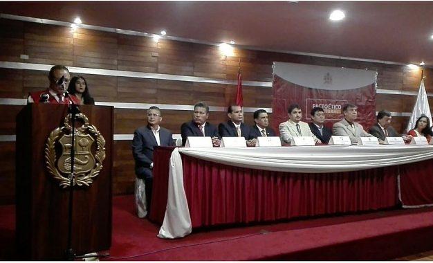 Solo 16 candidatos al Gobierno Regional de La Libertad firman el Pacto Ético Electoral