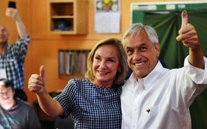 Chile: empujón de Sebastián Piñera a su esposa se viralizó en Twitter