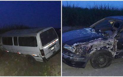 Choque entre combi y automóvil deja un herido