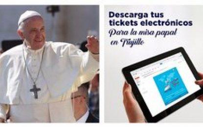 Crean tickets electrónicos para asistir a la misa del Papa Francisco en Trujillo
