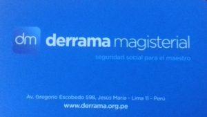 DERRAMA MAGISTERIAL