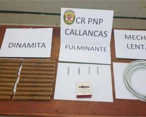 Decomisan material explosivo destinado a la minería ilegal en Callancas