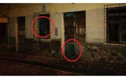 Huamachuco: Desconocidos detonan artefacto explosivo en la puerta de una vivienda