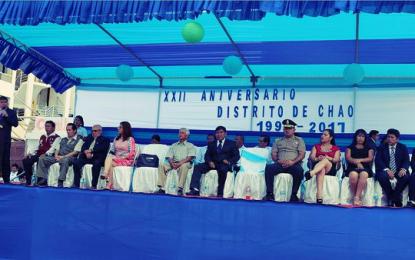 Distrito Chao celebra sus 22 años de creación política