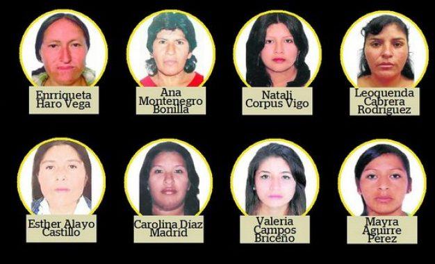 """Mujeres que figuran en la lista de """"Los más buscados"""""""