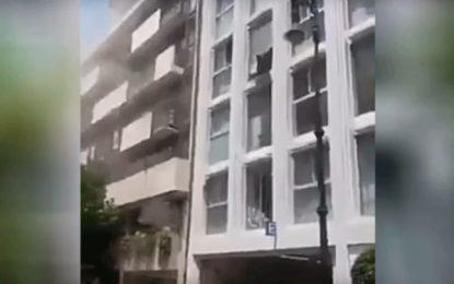 Escalofriante momento en que edificios chocan durante el terremoto en México [VIDEO]