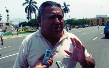 La Libertad: Dirigente de transportistas responsabiliza a general Otoya si atentan contra su vida