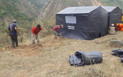 Otuzco: Instalan carpas para damnificados del sector Cerro Blanco