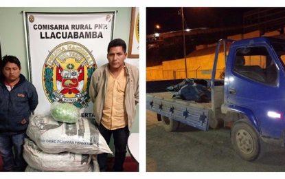 Caen trasladando 45 kilos de marihuana en furgoneta en Pataz.