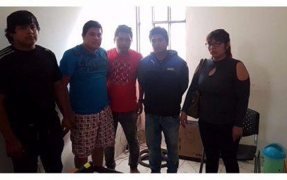 """Policía captura a cinco presuntos integrantes de """"Los Marcas del Alto Moche"""""""