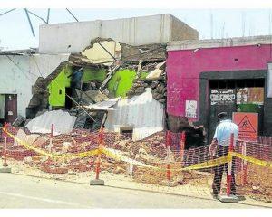 Reconstruirán pared de casona afectada en centro de Trujillo