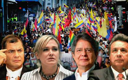 Los candidatos que pelean por la presidencia en Ecuador
