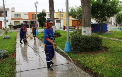 SERVICIO DE AGUA POTABLE EN PARQUES SE RESTABLECERÁ