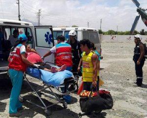 Tres gestantes son trasladadas desde Virú a Trujillo en helicóptero
