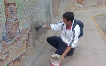 Reparan mural de la UNT dañado por hinchas de Sport Boys [Vídeo]